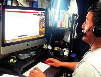 役員とオンライン会議でガイドラインの内容を話し合う柴田さん
